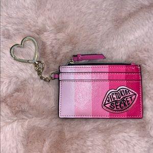 Victoria's Secret card holder keychain